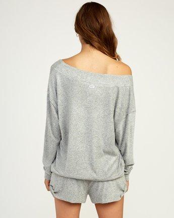 3 Whisper Fleece Pullover Top Grey WL09TRWP RVCA