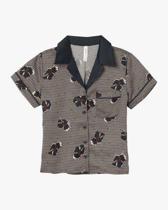 5 Call Collect Satin Pajama Shirt Grey WL10SRCA RVCA