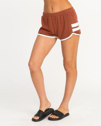 1 Julep Fleece Soft Short Brown WL12QRJU RVCA