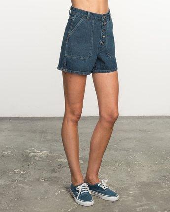 3 No Age High-Waisted Denim Shorts  WL201NOA RVCA