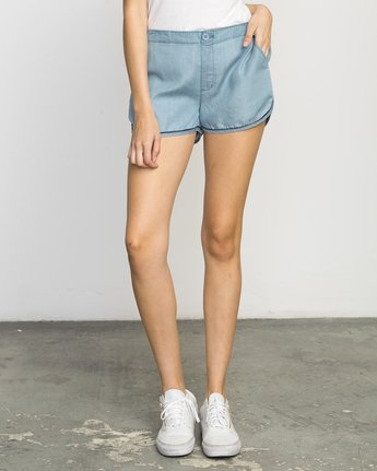 0 Golden Days Chambray Short  WL203GOD RVCA