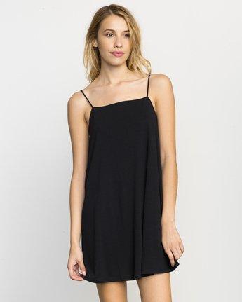 0 Rachel Swing Tank Dress Black WLD07RAC RVCA
