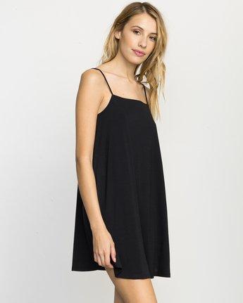 1 Rachel Swing Tank Dress Black WLD07RAC RVCA