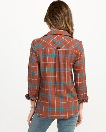 2 In A Haze Plaid Flannel Shirt Brown WM506INA RVCA