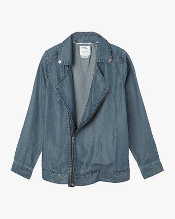 5 All I Need Chambray Moto Jacket  WM701ALI RVCA