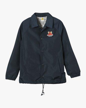 3 Toy Machine Coaches Jacket Blue WM704TOM RVCA