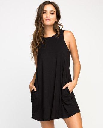 0 Temped Knit Swing Dress Black WMD01TEM RVCA