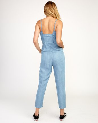 3 Flasher Chambray Jumpsuit Blue WN10TRFC RVCA