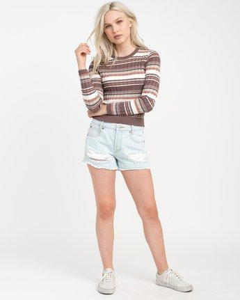 3 Sally Striped Knit Sweater  WV01NRSA RVCA