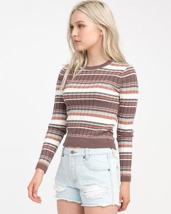 1 Sally Striped Knit Sweater  WV01NRSA RVCA