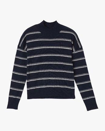 4 Armed Striped Sweater Blue WV01QRAR RVCA