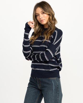 1 Armed Striped Sweater Blue WV01QRAR RVCA