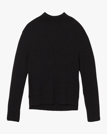 5 Oracle Ribbed Sweater Black WV02SROR RVCA