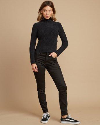 4 Oracle Ribbed Sweater Black WV02SROR RVCA