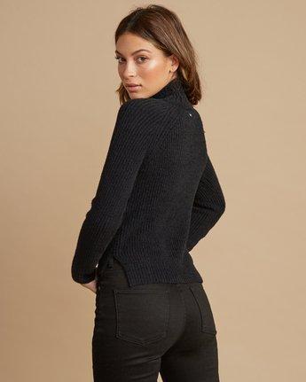 3 Oracle Ribbed Sweater Black WV02SROR RVCA
