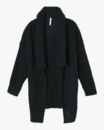 5 This Is It Oversized Knit Cardigan Grey WV04SRTH RVCA
