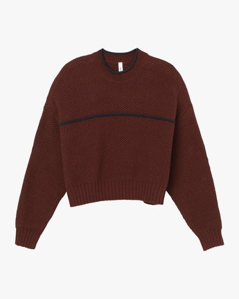 5 Jammer Cropped Knit Sweater Pink WV05SRJA RVCA