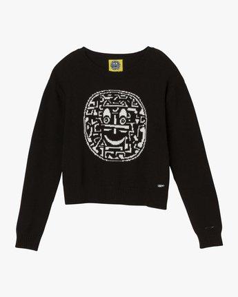 4 Joe Grillo Smiles Sweater Black WV07QRSM RVCA