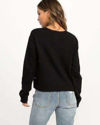 2 Joe Grillo Smiles Sweater Black WV07QRSM RVCA