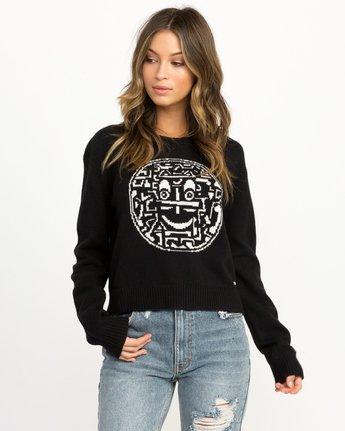 0 Joe Grillo Smiles Sweater Black WV07QRSM RVCA