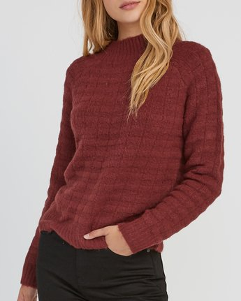 3 Mystars Knit Sweater Pink WV08SRMY RVCA