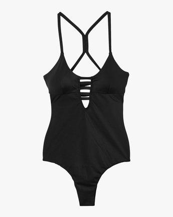5 Solid Strappy One Piece Swimsuit Black X101PRSO RVCA