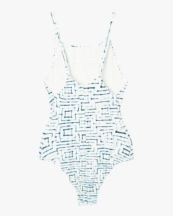 6 Tie Dye Tile One Piece Swimsuit White X105PRTO RVCA