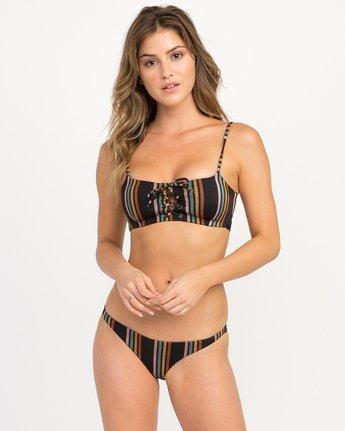 2 Side Line Striped Isle Skimpy Bikini Bottoms Black XB04QRSS RVCA