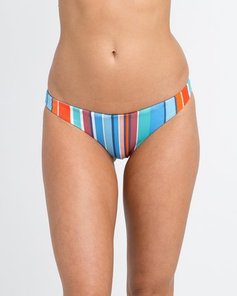 3 Horizon Reversible Stripe Medium Bikini Bottoms Blue XB05PRSM RVCA