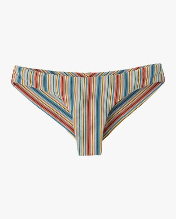 4 Sixteenth St Striped Cheeky Bikini Bottoms Multicolor XB06NRSC RVCA