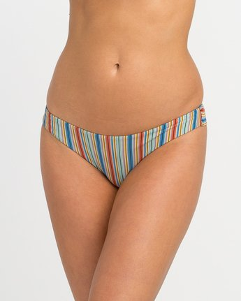 3 Sixteenth St Striped Cheeky Bikini Bottoms Multicolor XB06NRSC RVCA