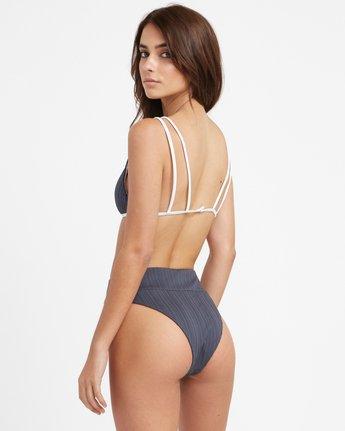 1 Linear Ribbed High Waist Skimpy Bikini Bottoms Grey XB16TRLH RVCA