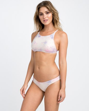 1 Crystal Tie Dye Cheeky Bikini Bottom White XB26PRCC RVCA