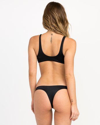 0 Solid Basic Isle Skimpy Bikini Bottom Black XB27NRIS RVCA