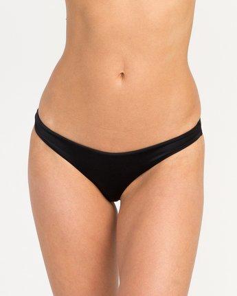 3 Solid Basic Isle Skimpy Bikini Bottom Black XB27NRIS RVCA