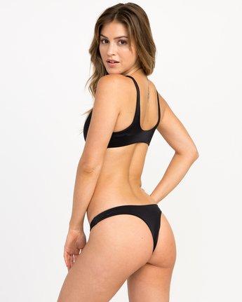 1 Solid Basic Isle Skimpy Bikini Bottom Black XB27NRIS RVCA