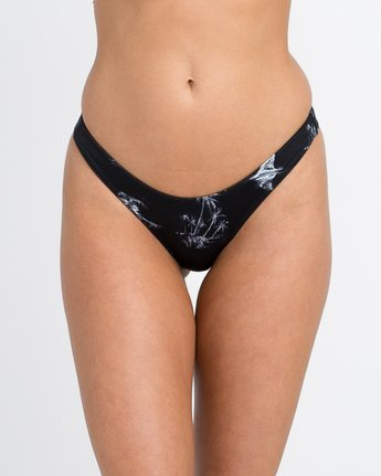 3 Danger Beach High Cut Bikini Bottom Black XB28PRHC RVCA