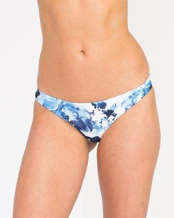 3 Paint Flower Cheeky Bikini Bottom Blue XB31PRCC RVCA