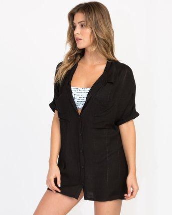 1 And Then Tunic Shirt Dress Black XC05PRAN RVCA