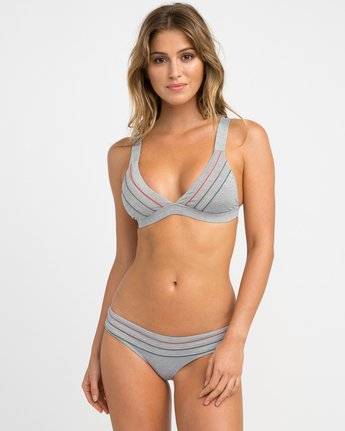0 Pipeline Triangle Bikini Top Grey XT02NRPT RVCA