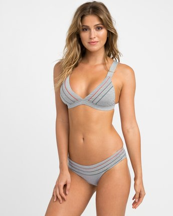 1 Pipeline Triangle Bikini Top Grey XT02NRPT RVCA