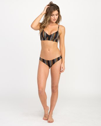 4 Side Line Striped Underwire Bikini Top Black XT03QRSU RVCA