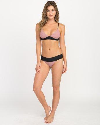 4 Rockaway Ribbed Triangle Bikini Top Pink XT08QRRT RVCA