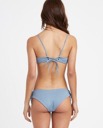 2 Beau Grid Bralette Bikini Top Blue XT14TRBT RVCA