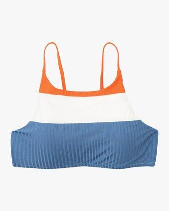 5 July Colorblocked Crop Bikini Top Multicolor XT15PRJC RVCA