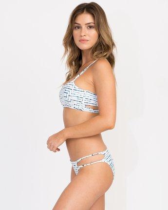 1 Tie Dye Tile Bandeau Bikini Top White XT16PRTC RVCA