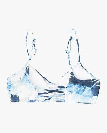 6 Paint Flower Bralette Bikini Top Blue XT18PRPB RVCA