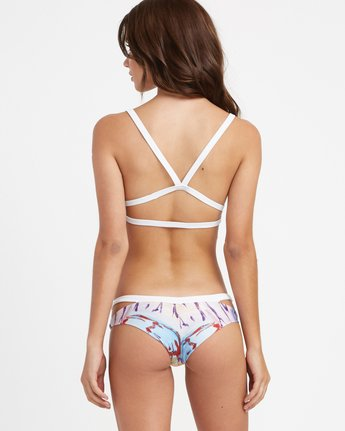 3 Sage Vaughn Floral Garden Bralette Bikini Top Multicolor XT20TRSB RVCA