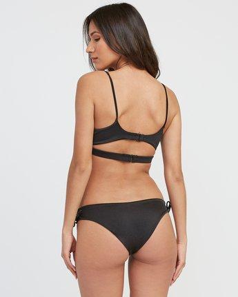2 Solid Shimmer Lace-Up Bikini Top Black XT24SRSB RVCA
