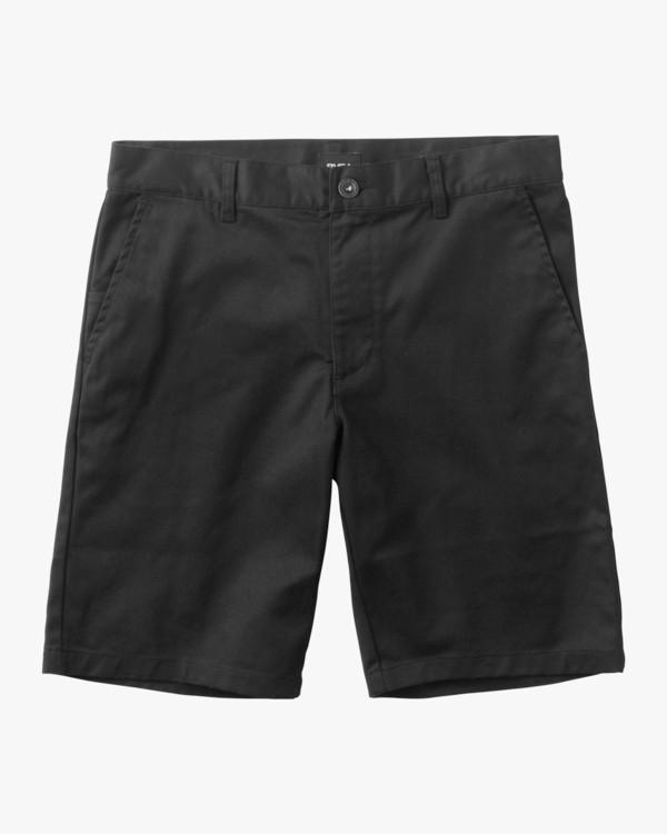0 Boy's Weekday Stretch Short Black B240TRWD RVCA